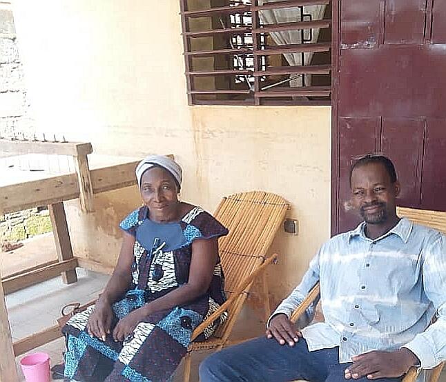 Casimir Ouedraogo, Coordinateur et Sara Traoré enseignante